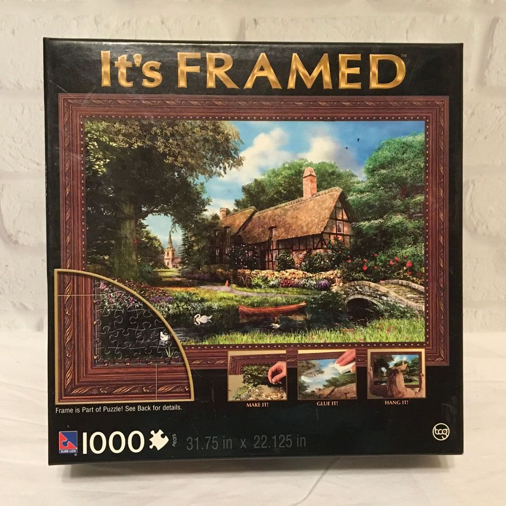 Its Framed 1000 Piece Jigsaw Puzzle Alderriver Cottage Toys Hobbies Puzzles Contemporary Puzzl With Images Hobbies For Girls 1000 Piece Jigsaw Puzzles Jigsaw Puzzles