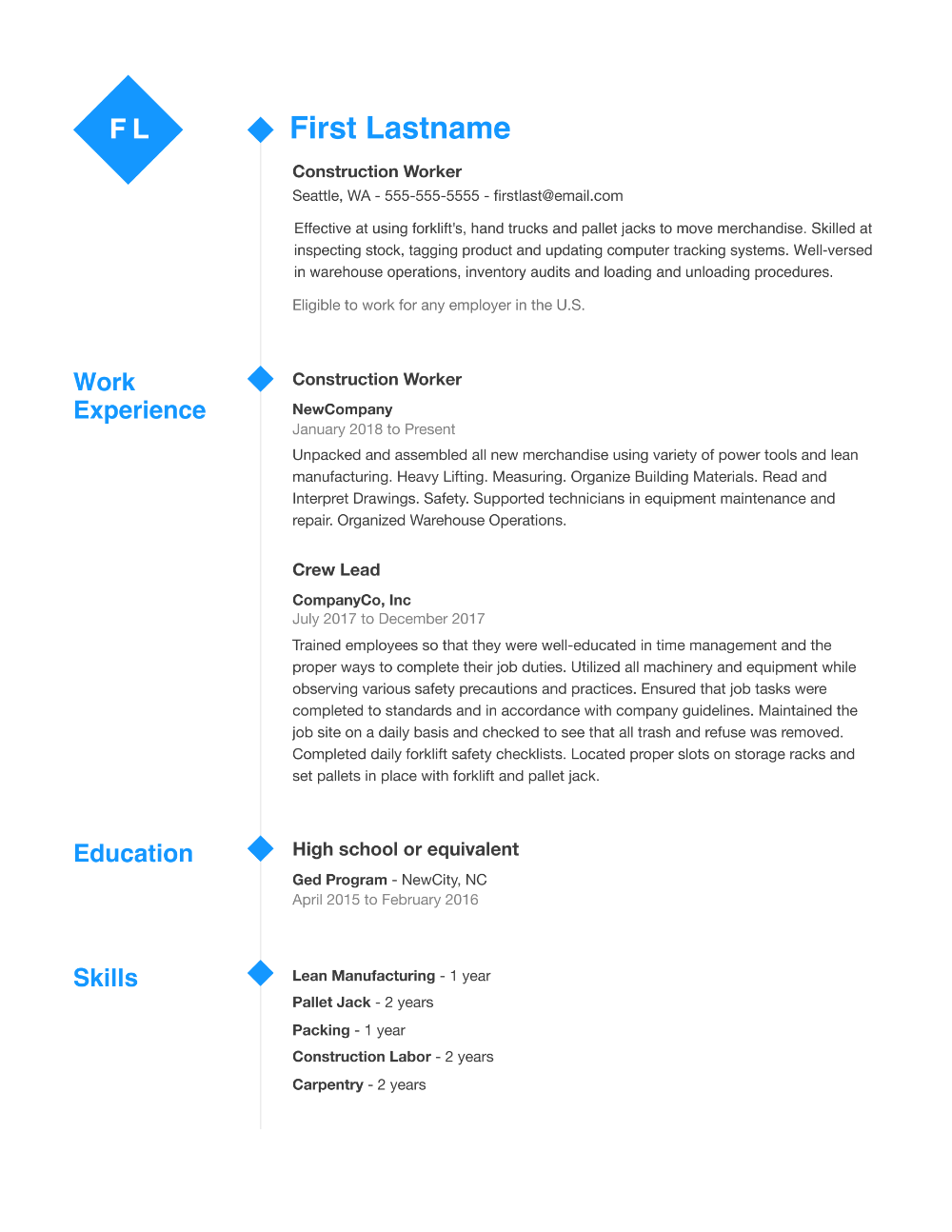 Resume Builder in 2020 Resume template professional
