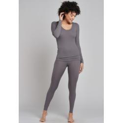 Photo of Leggings double rib taupe- personal fit rib Xxlschiesser.com