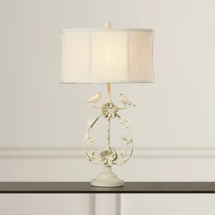 Mufeeda 31 Antique White Table Lamp In 2020 White Table Lamp Table Lamp Lamp