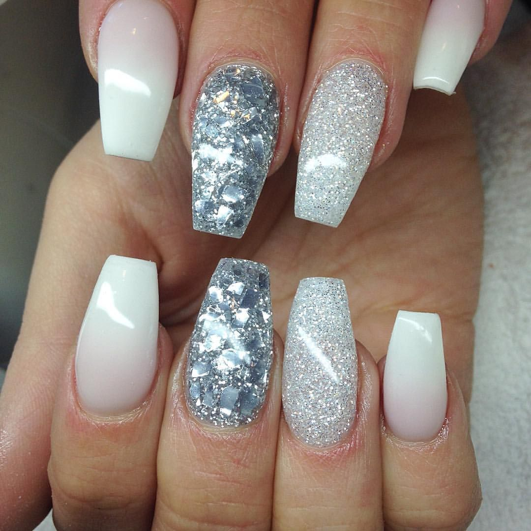 Faded french and silver | @studio_amoursfilar | Nailz | Pinterest ...