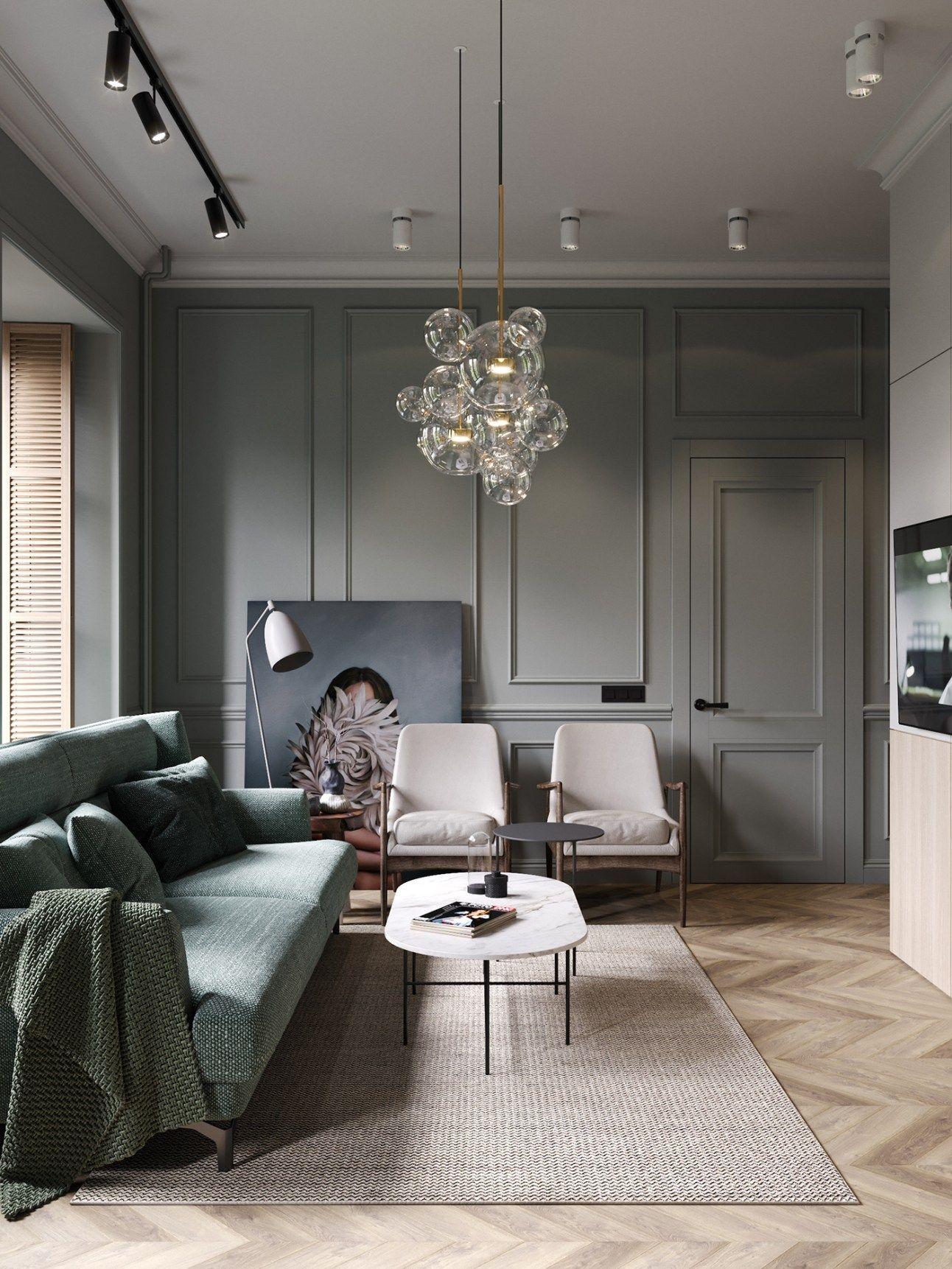 Un Appartement Classique Chic Par Cartelle Design Salon Moderne