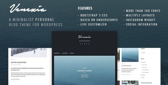 Venezia - Minimalist Personal Blog WordPress | Wordpress theme ...