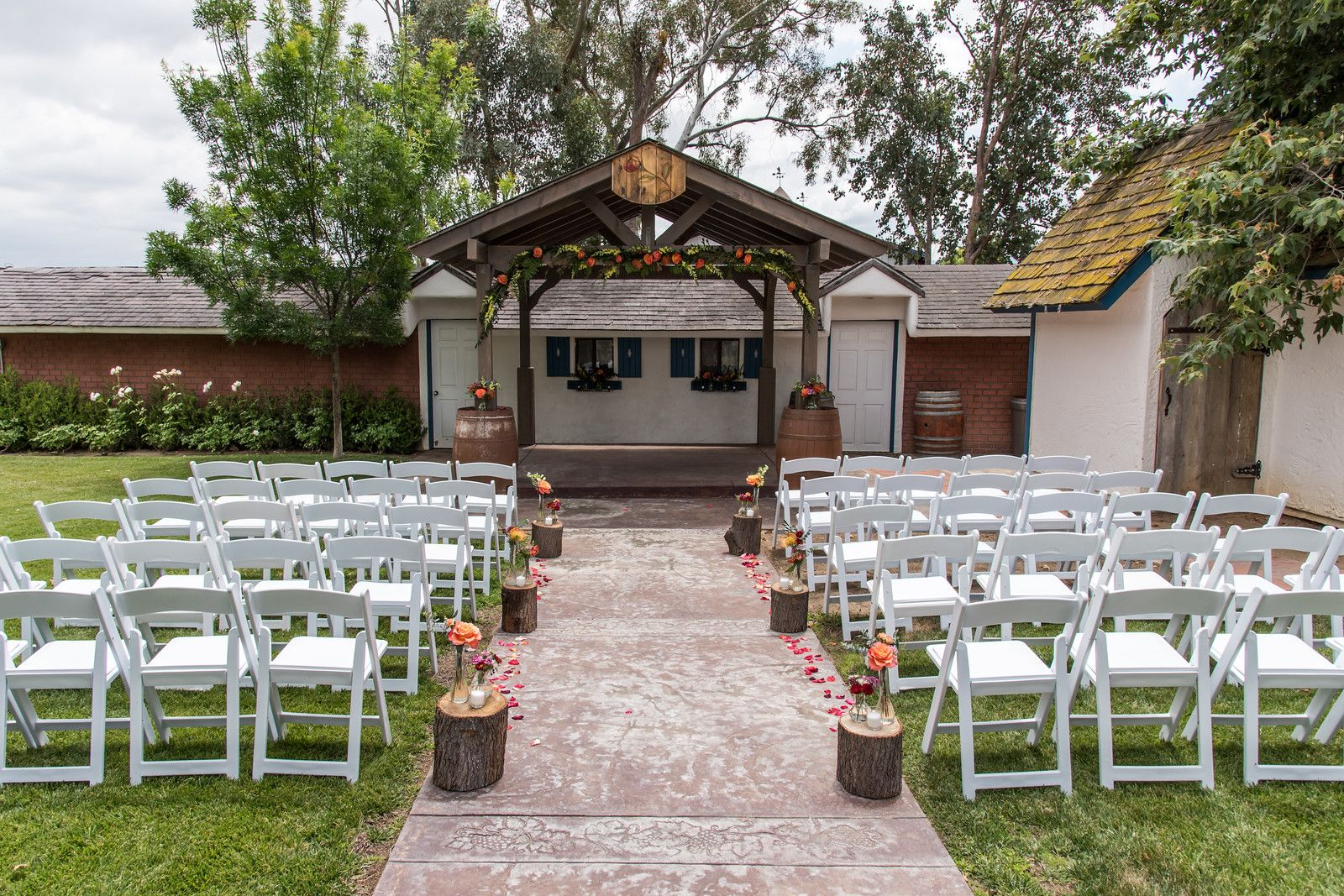 Wedding Ceremony at Briar Rose Winery, http//www