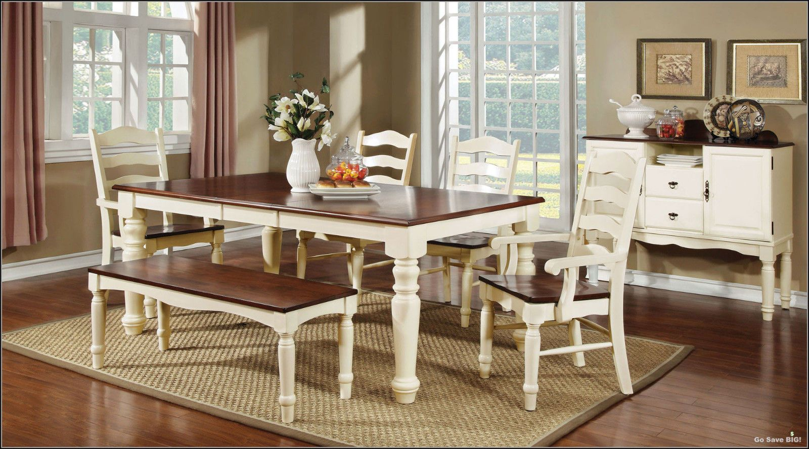 6 Pc Dining Set Contemporary Farmhouse Country Style Table Chairs Kitchen Room Country Dining Tables Wood Dining Room Wood Dining Room Table