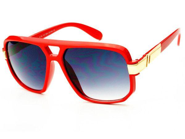 Classy Celebrity Aviator Sunglasses Red A983
