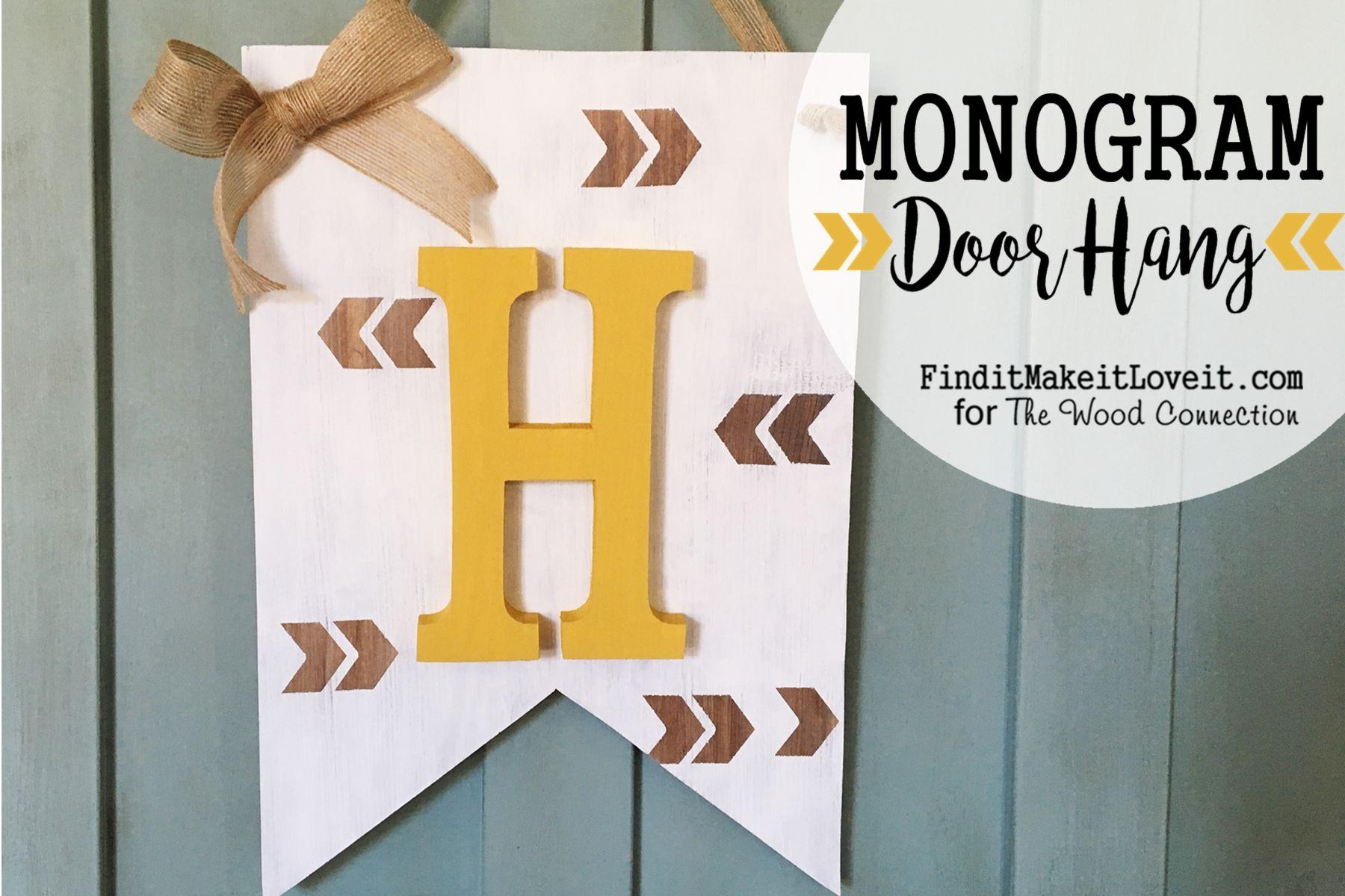 Monogram Banner Door Hang - The Wood Connection Blog