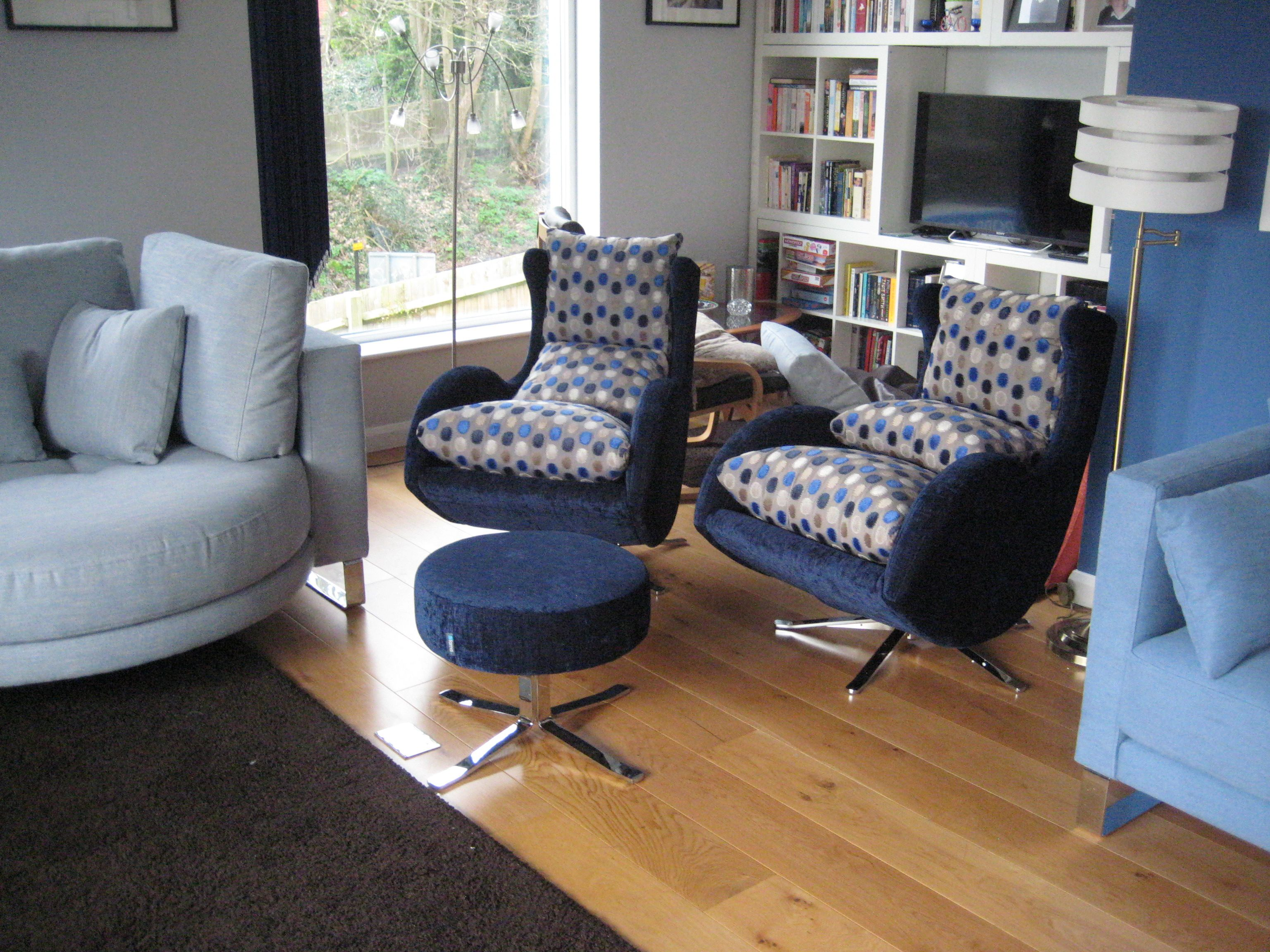 Prime These Two Swivel Chairs And Matching Shared Footstool Were Evergreenethics Interior Chair Design Evergreenethicsorg