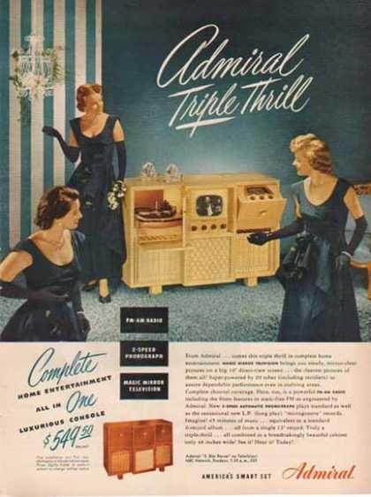 Admiral Television – Console / Magic Mirror Television – Sold (1948)