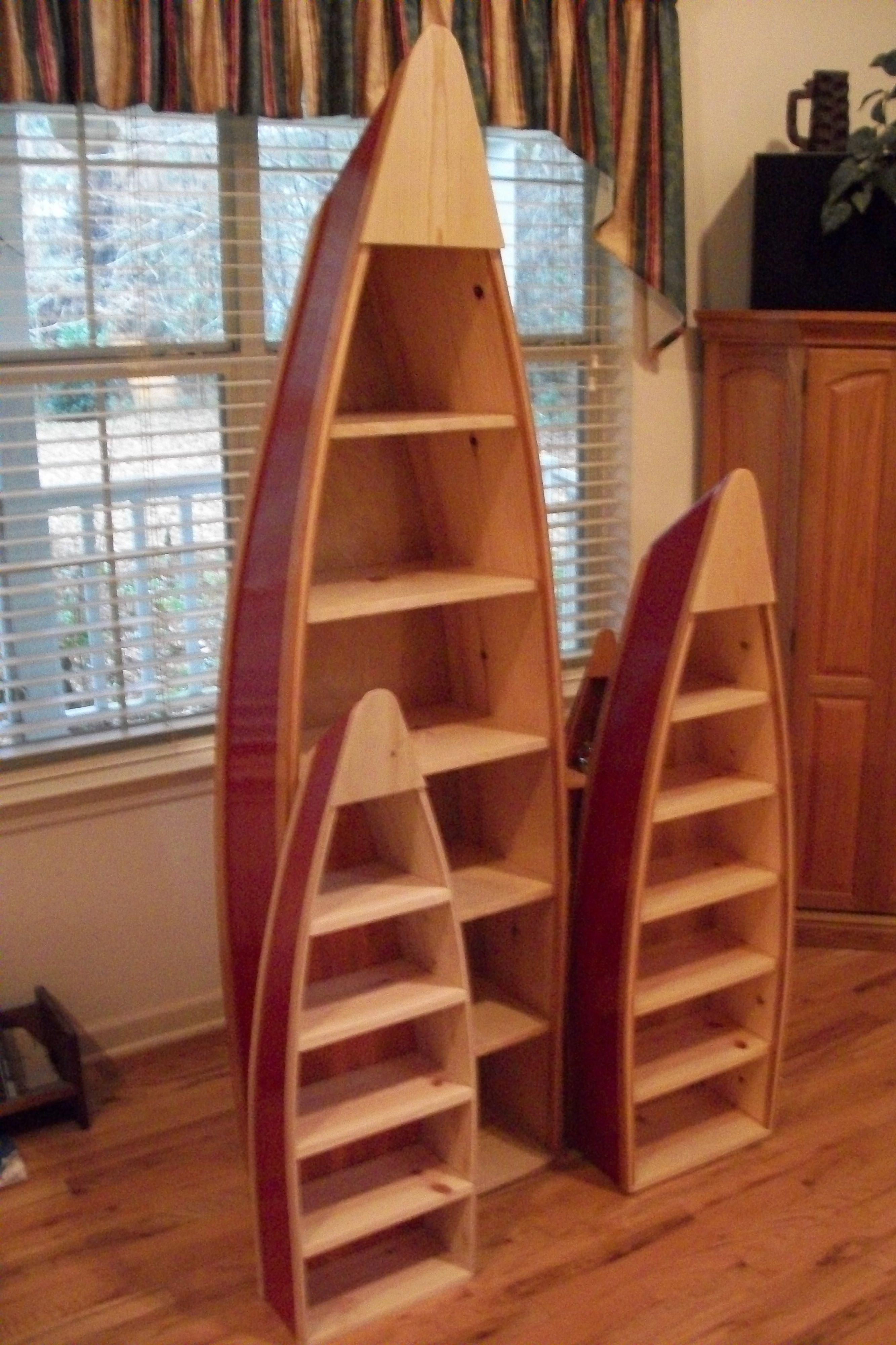 Boat Shelves Red Matching Set Of Canoe Shelves Home Decor Diyfurnitureplansguestbedrooms Home Decor Home Diy Cabin Decor