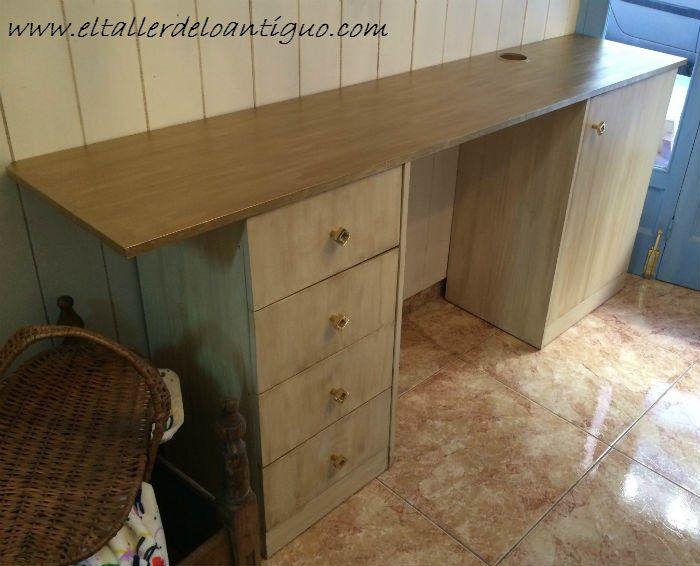 Como pintar muebles de melamina sin lijar ni imprimar - Pintar muebles barnizados sin lijar ...