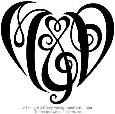 M D Heart Design Initial Tattoo Anniversary Tattoo Monogram Tattoo