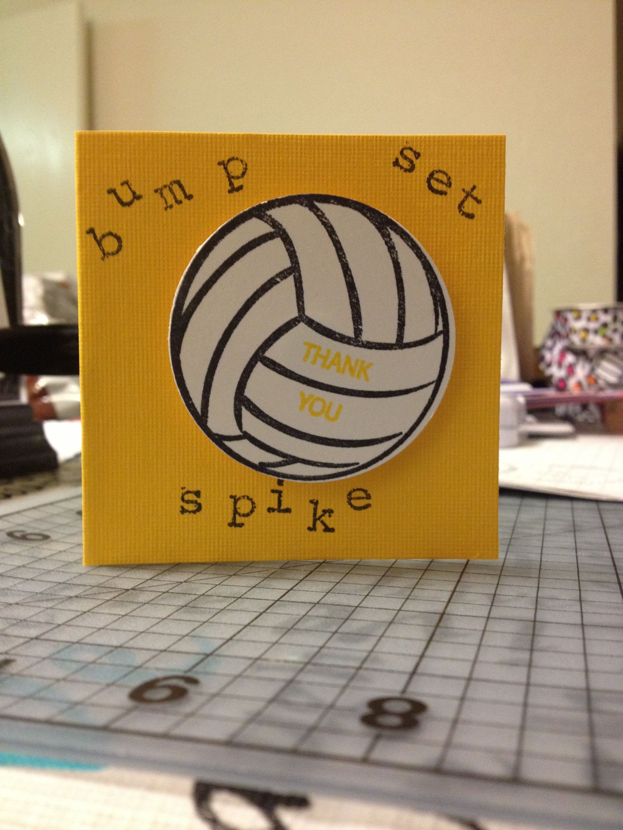 Volleyball Thank You Card For The Girls On My Team Volleyball Coach Gifts Volleyball Gifts Volleyball Crafts