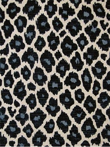 Simba Navy Eco Freindly Leopard Frinf With Velvet Accents