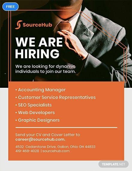 Free Recruitment Flyer Flyer Template Recruitment Ads