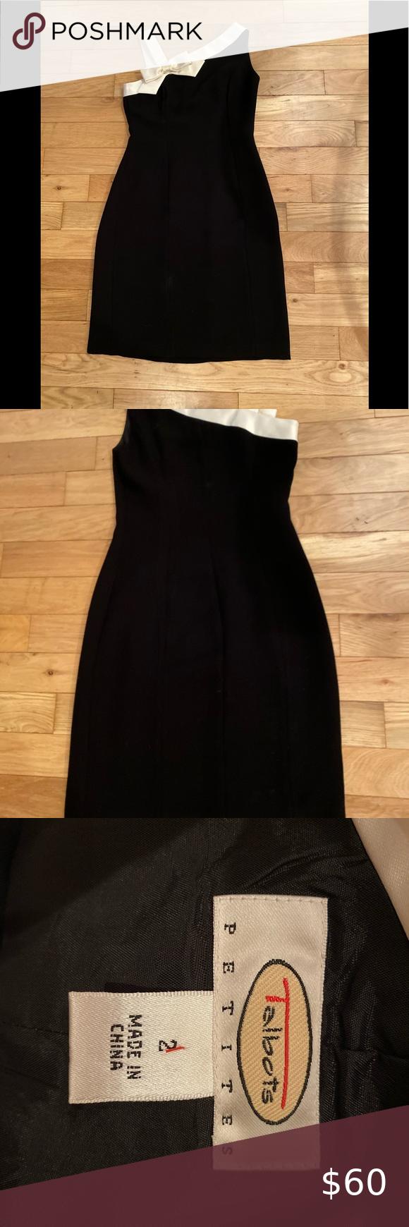 Talbots Cocktail Dress Size 2 Petites Plaid Dress Vintage Flare Dress Work Black Sleeveless Midi Dress [ 1740 x 580 Pixel ]