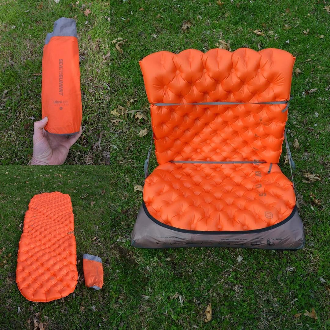 We Re Testing The Sea To Summit Air Chair That Lets You Turn Your Camping Mat Into A Camp Chair Using A Lightweight Strap System Air Chair Chair Camping Chairs