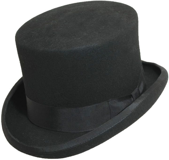 1fd8003c50c Dorfman Wool Felt English Topper. An English top hat has unmatched formal  flair. grosgrain