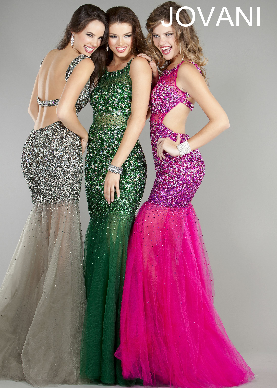 New prom dresses Jovani 171100 gray, pink, green sequin mermaid ...