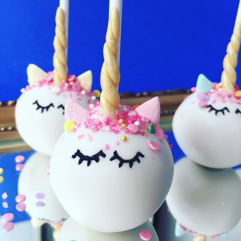 Unicorn Cake Balls - Cake Popsballs All Occasions - Pinterest -