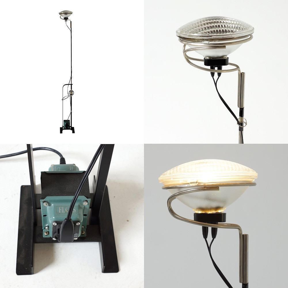 Toio Floor Lamp By Achille Giacomo Castiglioni For Flos Original Model Floor Lamp Providing Indirect Lighting Inspired By A Car Headlight Castiglioni Flo Furniture Design Modern Castiglioni Lamp Mid Century