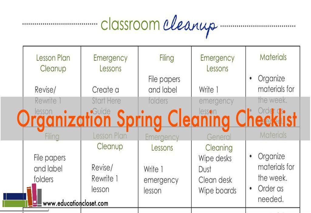 Classroom Organization Checklist