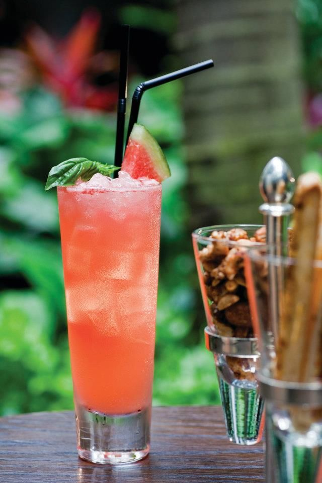 Rum, lemon juice and watermelon makes a delightful thirst-quencher. Cheers!