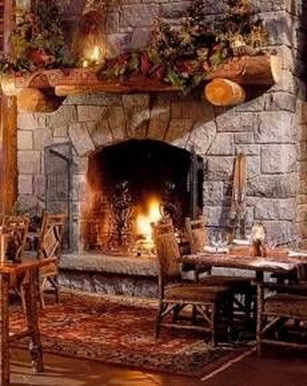 42 Stunning Rustic Fireplace Design Ideas Match With Farmhouse