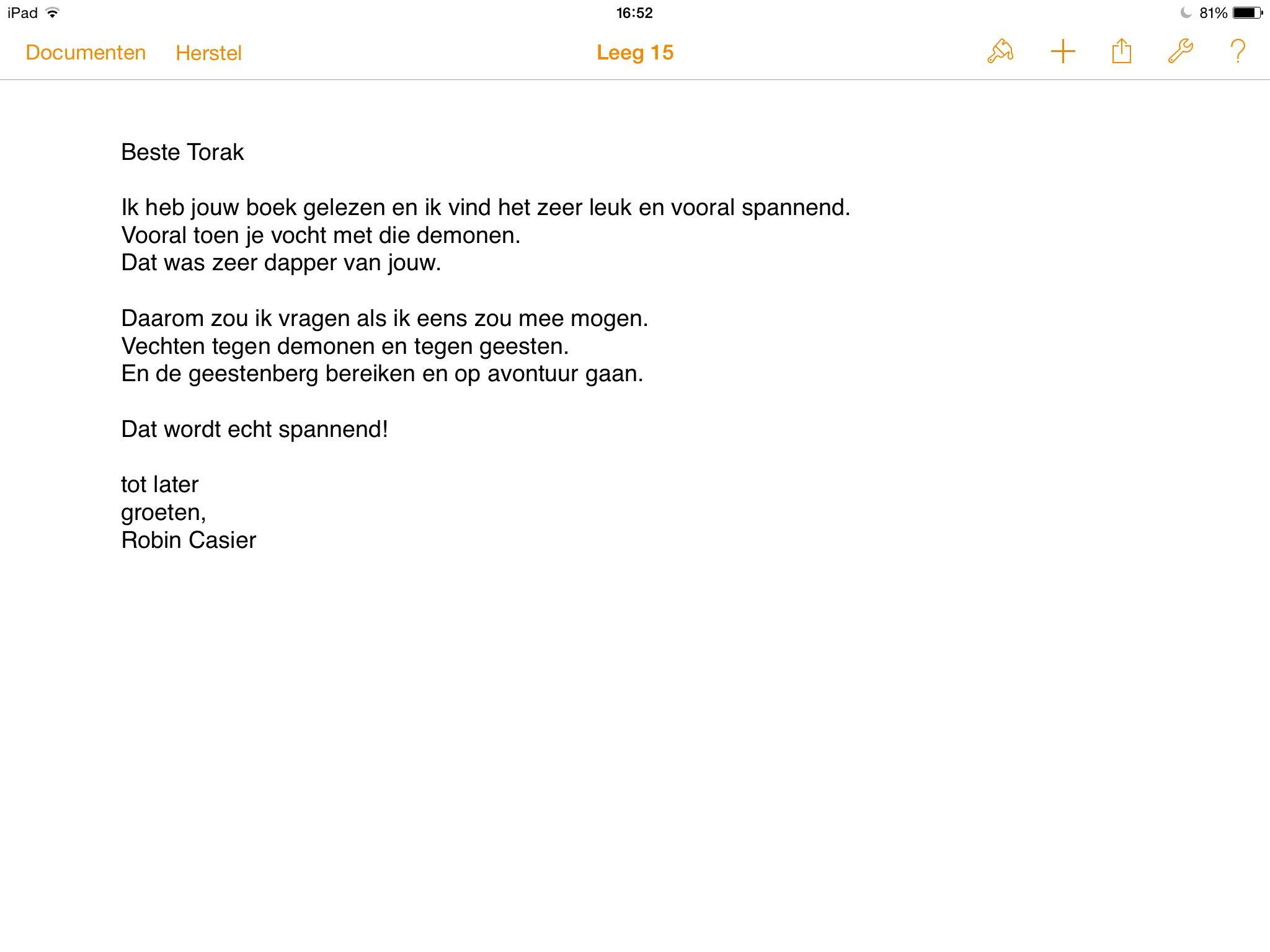 brief nederlands