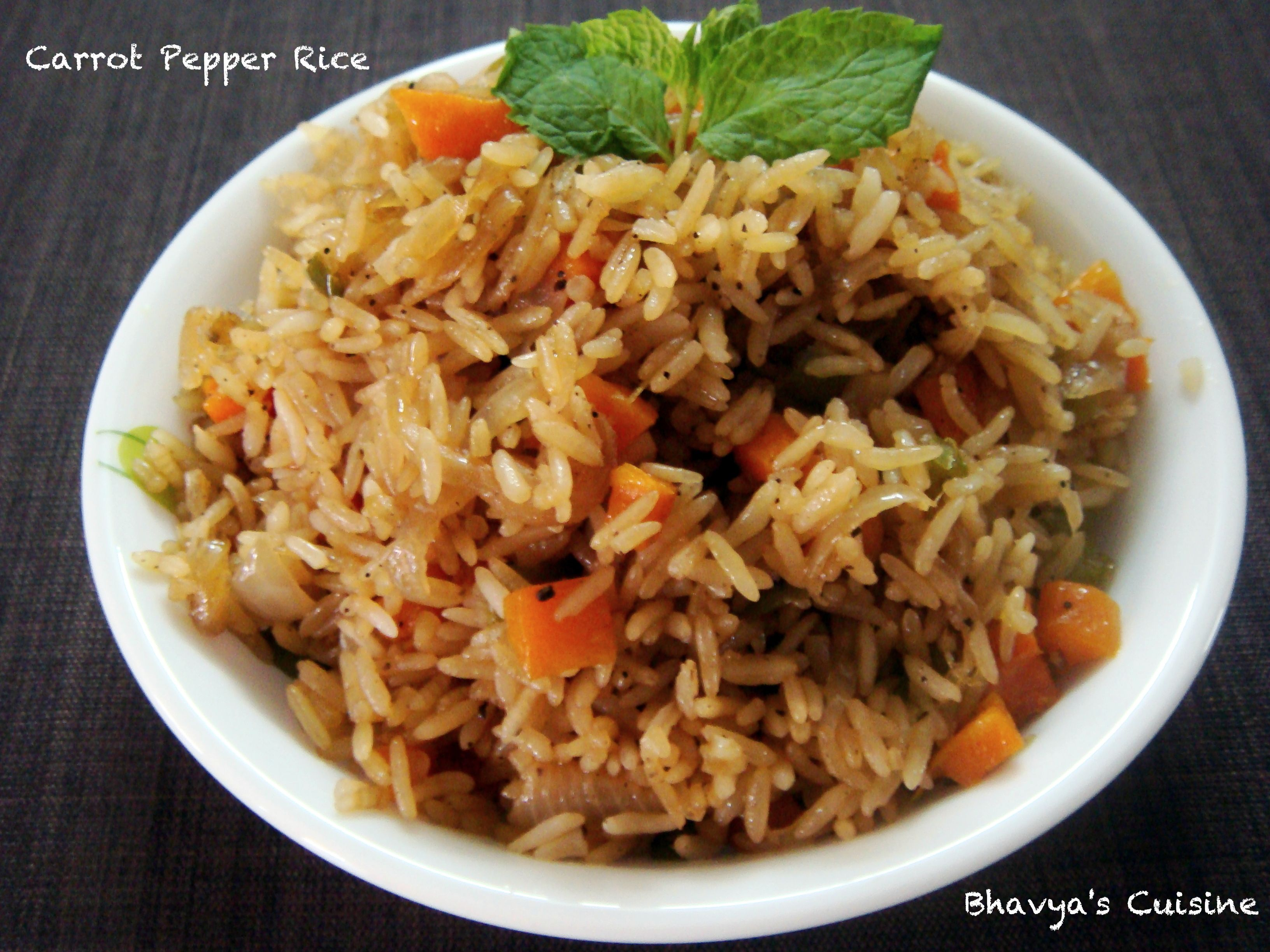 Carrot Pepper Rice Microwave Recipe Microwave Recipes