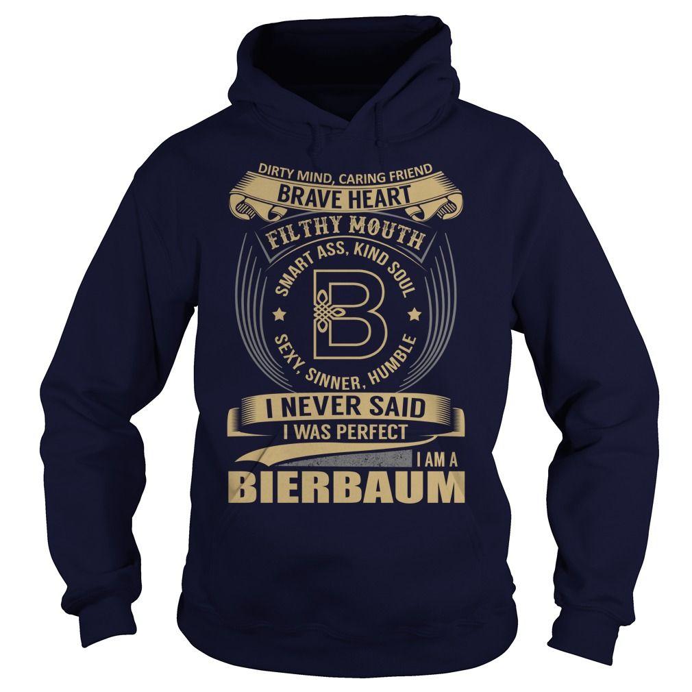 (Tshirt Top Design) BIERBAUM Last Name Surname Tshirt Discount 5% Hoodies Tees Shirts