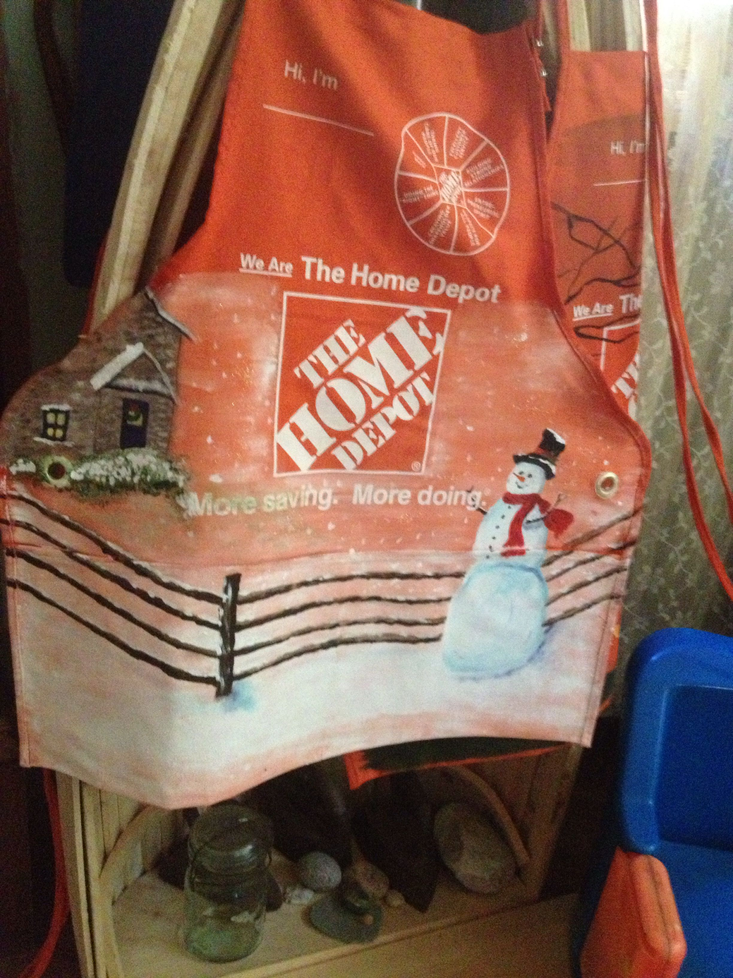 Home Depot apron Done by Roberta Smith Won 2nd place