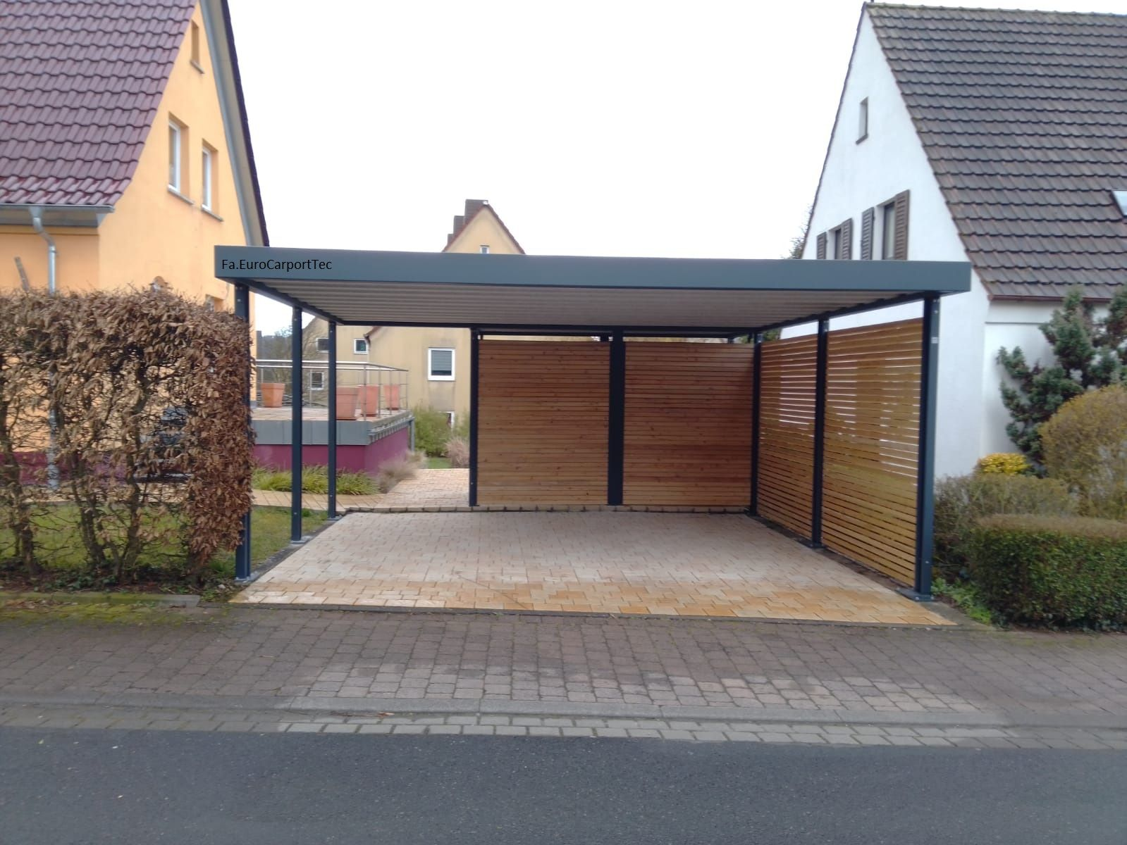 Metall Carport In 2020 Carport Metall Carport Haus Aussen