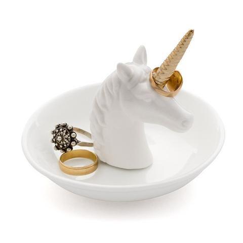porcelana, redondo de gato, color blanco /Plato para joyas Sass /& Belle/
