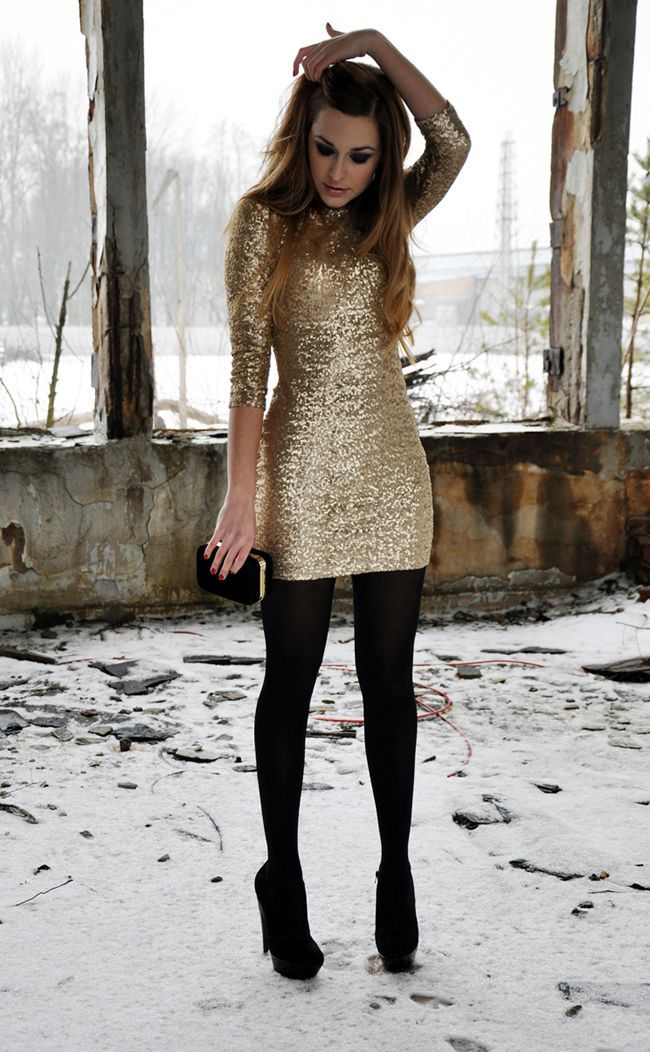 3d81cf073f1b5 Glam Up Your Holiday Party Style   All abt fashion   Gold dress ...