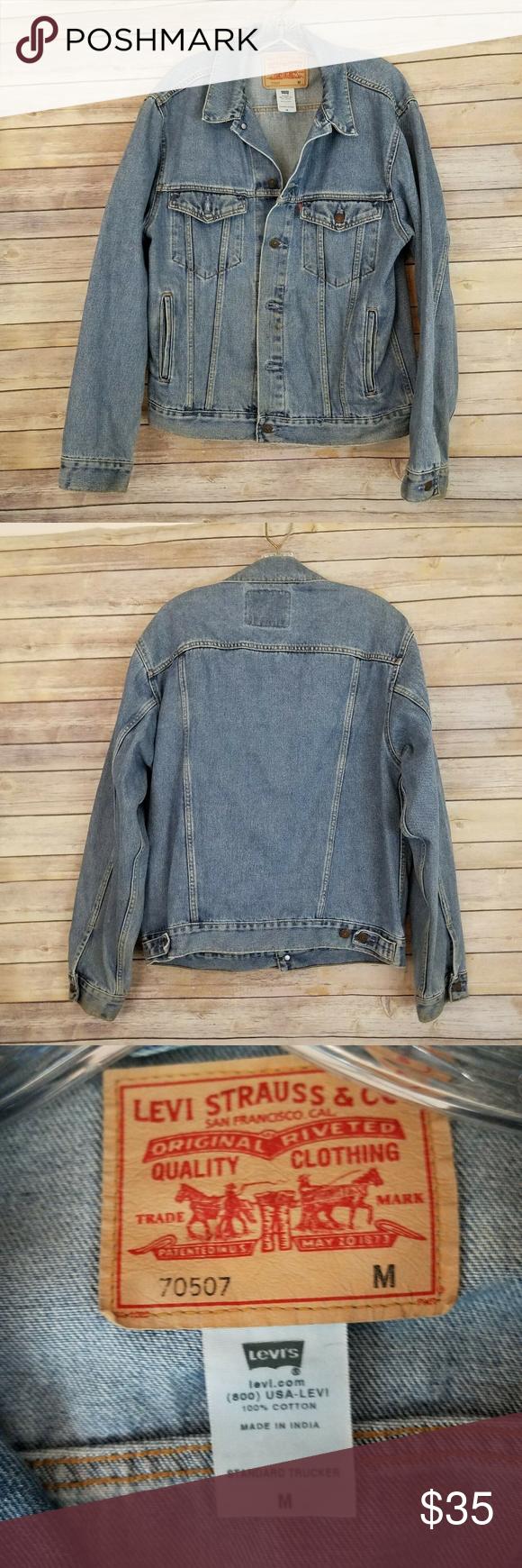Levi S Trucker Men S Blue Jean Jacket Blue Jean Jacket Jean Jacket Blue Jeans [ 1740 x 580 Pixel ]