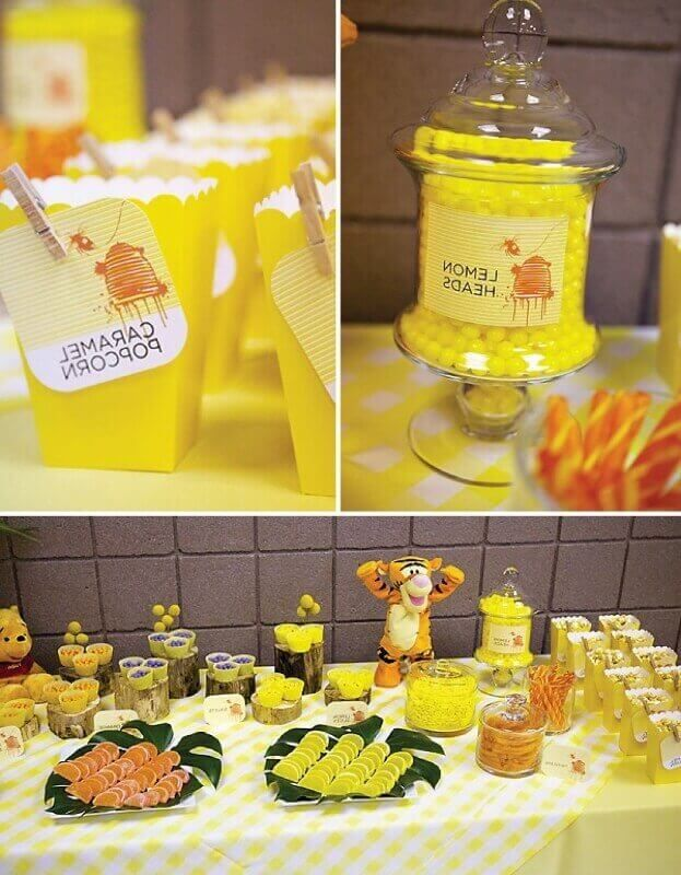 Winnie The Pooh Baby Shower Ideas And Games Baby Shower Party