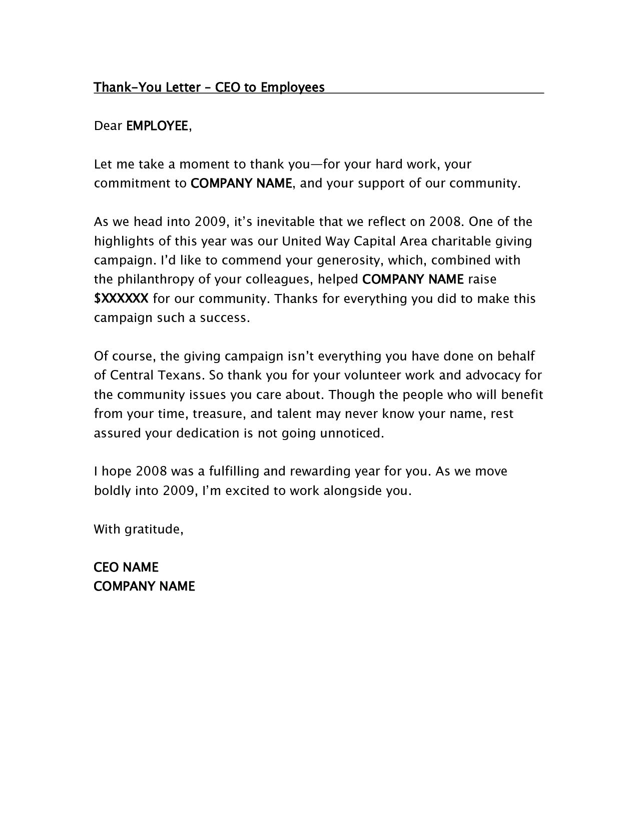 Ceo thank you letter employees the sample employee bonus ceo thank you letter employees the sample employee bonus thoughtful commentsfrom our clientssure pertaining aljukfo Image collections
