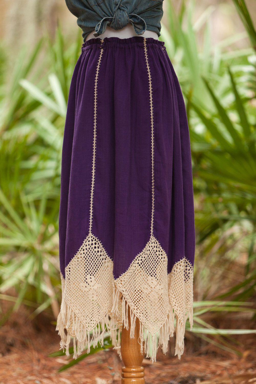 Vintage Cotton Gauze and Crochet Skirt // Bohemian Skirt // Gypsy Maxi Skirt // Hippie // Festival by PetiteMoucheVintage on Etsy https://www.etsy.com/listing/226430116/vintage-cotton-gauze-and-crochet-skirt