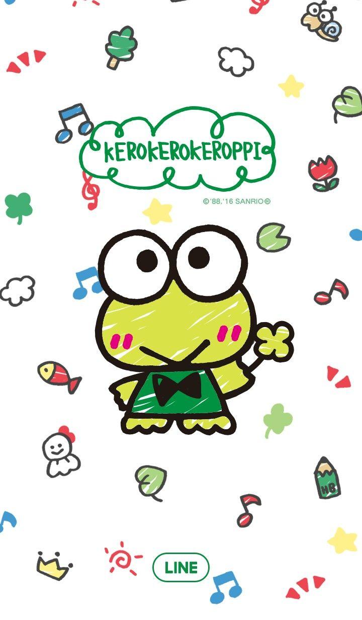 Keroppi Line Wallpaper Kartun Ilustrasi Kartun Gambar