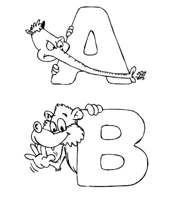 Zoo Alphabet Coloring Pages Printable   Clipart für ABs for ...
