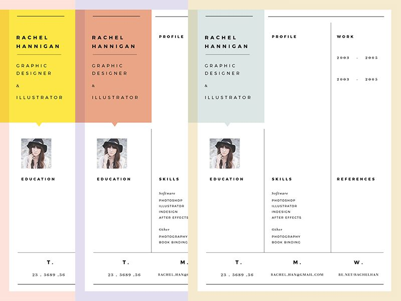 Color combos for Resume - resumes with color