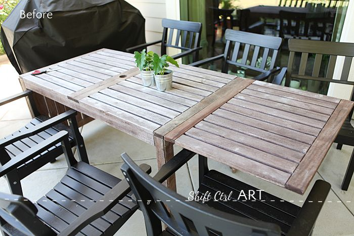 Painting The Outdoor Furniture How I Got That Barnwood Color Wooden Outdoor Furniture Painted Outdoor Furniture Wood Patio Furniture