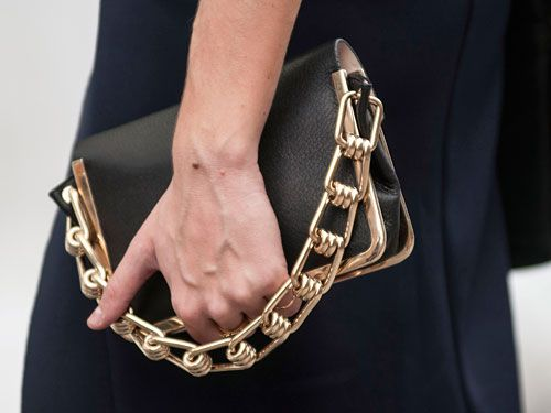 Reed Krakof clutch at Street Style at Spring 2014 Fashion Week
