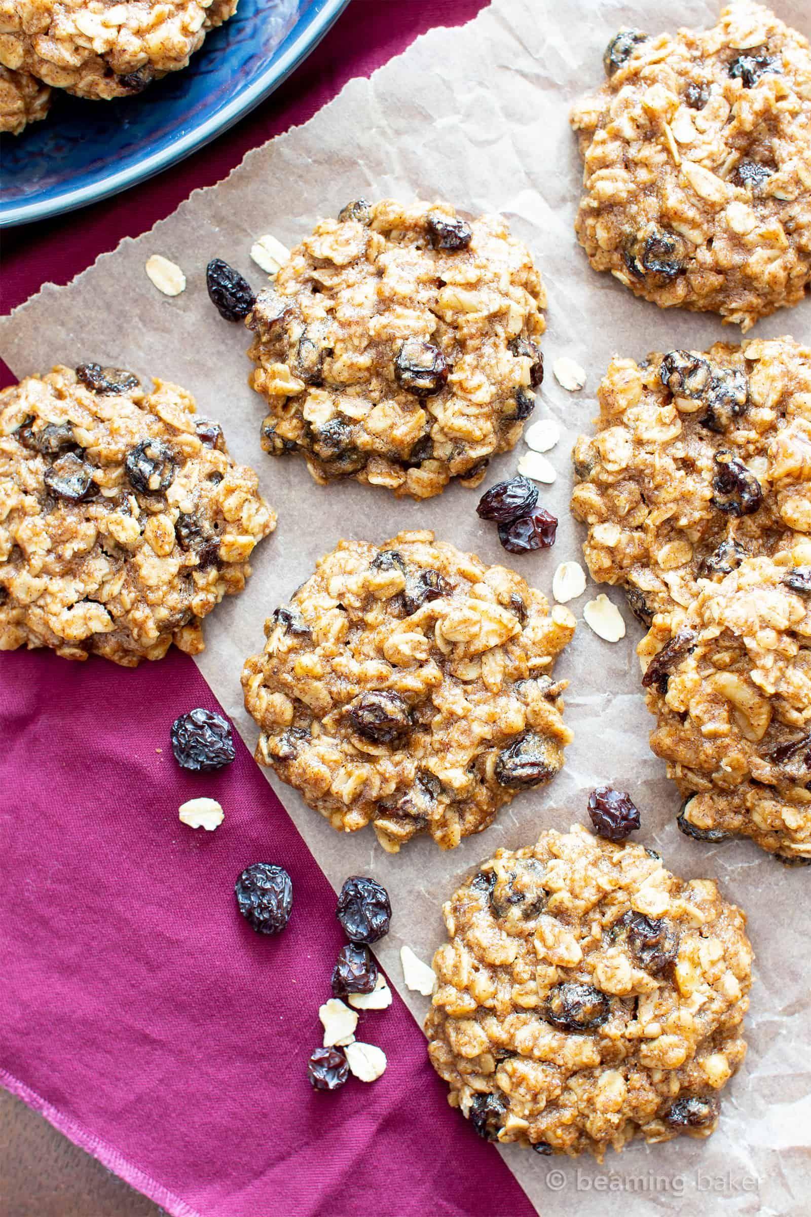 Chewy oatmeal raisin cookie recipe v gf my favorite