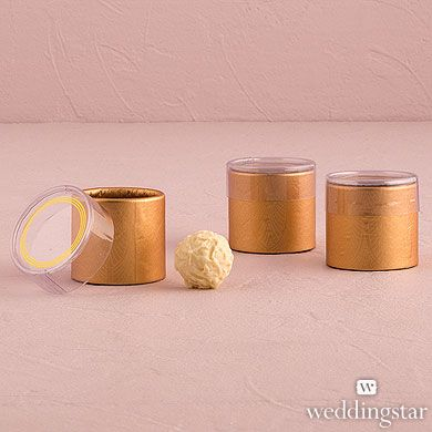 Art Deco Cylinder Boxes With Clear Lid