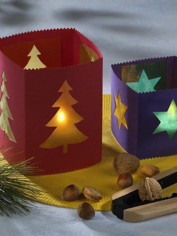 Tischlaternen für Weihnachten | Wunderweib