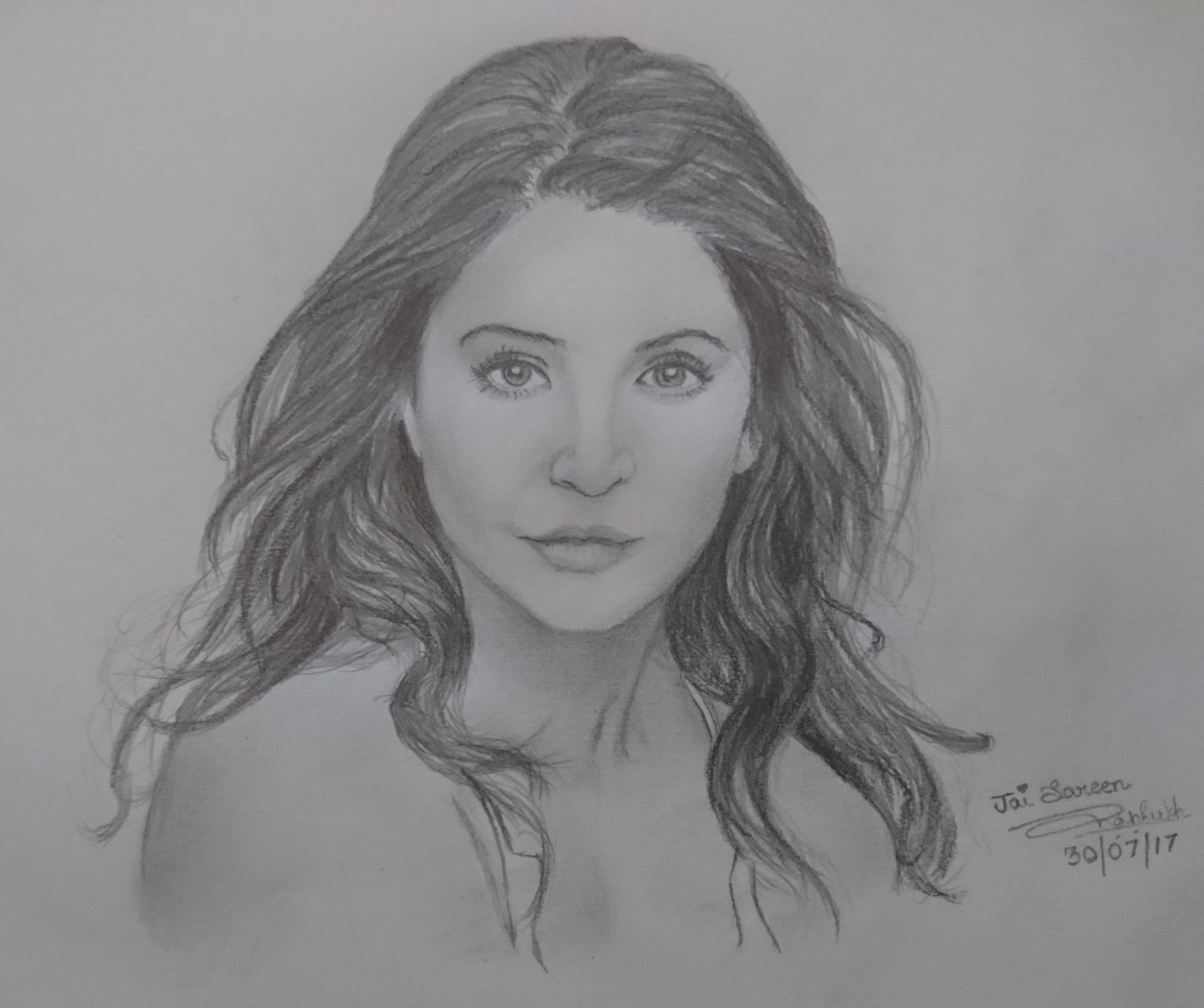 Bollywood actress anushka sharma sketch
