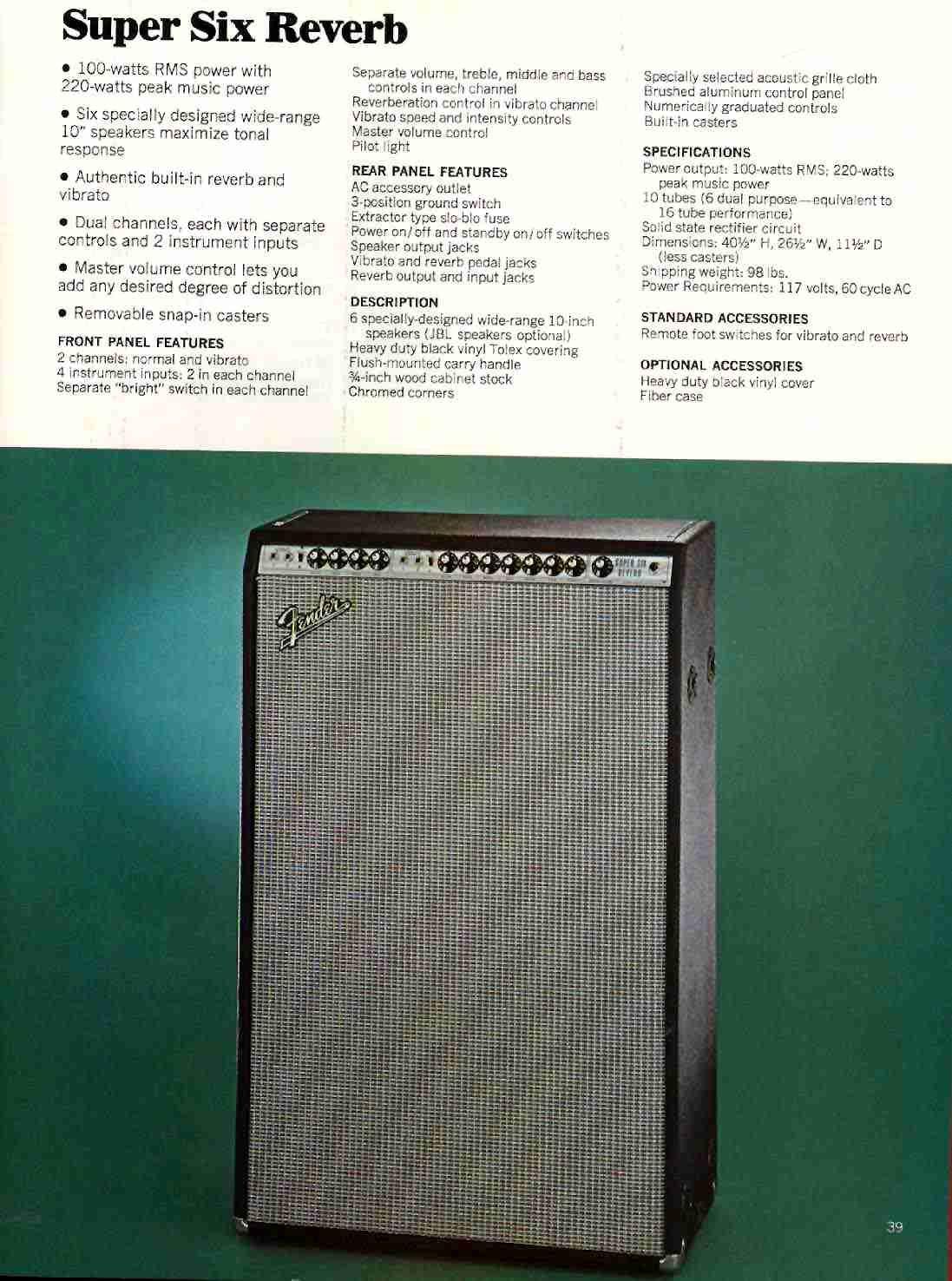 vintage Fender Super Six Reverb | gear | gear by elijah ...