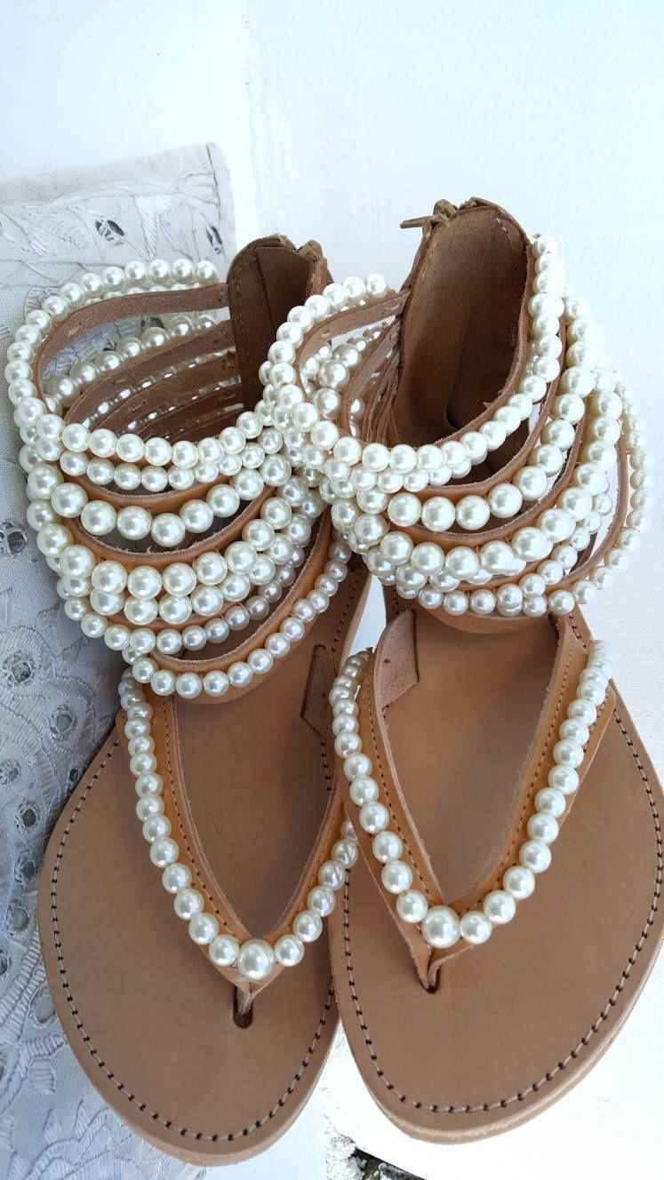 6c01e18f6b124 gladiators ,Greek sandals,Bohemian sandals,women's shoes,pearl sandals,leather  sandals,summer shoes,strappy sandals,pearls,boho